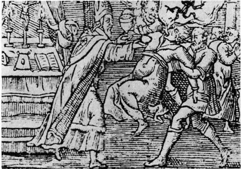woodcut 1598 witch trial